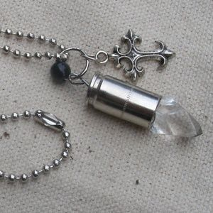 Vampire Charm Necklace with real 9mm casing